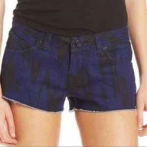 • Volcom • Blue & Black High Voltage Denim Shorts